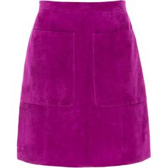 LK Bennett Suzi Orchid Suede Skirt (6.790 UYU) ❤ liked on Polyvore featuring skirts, bottoms, saias, fuchsia, purple skirt, suede leather skirt, purple a line skirt, suede skirt and fuschia skirt