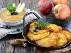 Kartoffelpuffer mit Apfelmus