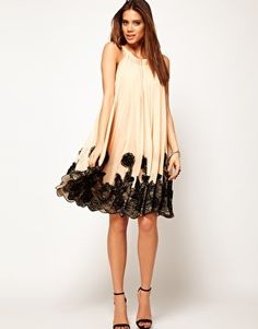 ASOS Swing Dress with Lace Applique