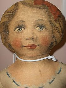 24in. Cloth Art Fabric Mills Miss Dolly Beautiful Excellent Condition - Paula's Doll Memories #dollshopsunited