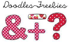 Doodles-Sonderzeichen-Freebies passend zu dem Doodles-ABC