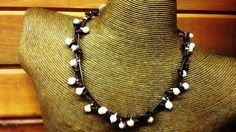 Brown Leather Pearls and Sterling by PataSilverDesign