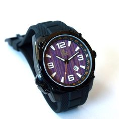 Recycled skateboard watch - watch dial made by hand in Canada