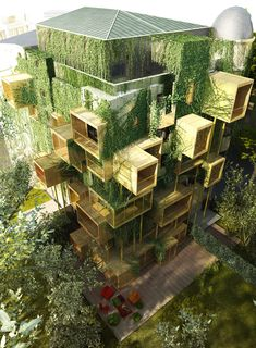 Malka Architecture has proposed adding cubed parasitic extensions to an apartment building in Paris