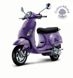 Limited edition (as in only 4 exist) Iris edition Vespa LX50, created for Crabtree + Evelyn. Matte-finish purple? Whimper.