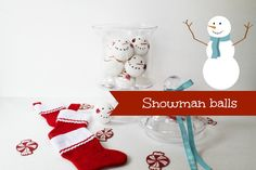 How to make snowman heads from the dollar store