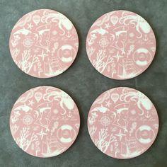Faith Hope Love, Puderrosa - Coasters, 4 st