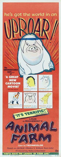 """Animal Farm"", animated film by John Halas Joy Batchelor (UK, 1954)"