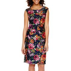 jcp | Worthington® Sleeveless Floral Lace Sheath Dress