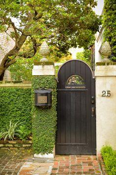 Narrow Garden Gate, Charleston, SC© Doug Hickok All Rights Reserved