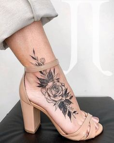 rose foot tattoos for women small & rose foot tattoo . rose foot tattoos for women . rose foot tattoo cover up . rose foot tattoos for women small . Tattoos For Women Flowers, Foot Tattoos For Women, Tattoo Designs For Women, Tattoos On Foot, Womens Ankle Tattoos, Ankle Tattoos For Women Anklet, Arm Tattoo, Ankle Tattoo Designs, Tattoo Pain