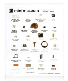 The Mini Museum II delivers treasures from the past as well as from beyond our planet right to your desk.