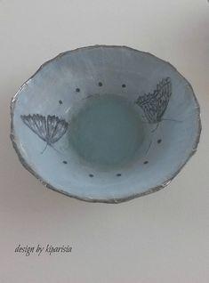 Papier mache bowl (Butterfly)