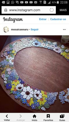 Floral frame for mirror or picture.