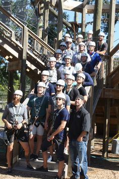 All members of the South Carolina Stingrays Hockey Team came to Wild Blue Ropes yesterday for team building, climbing, and a great 3-team competition to end the day. The Stingrays were exceptional performers in all phases, and a joy to have at Wild Blue Ropes once again!
