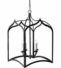 "Visual Comfort Chart House Large Gothic Lantern in Black CHC3415BLK #visualcomfort  31 1/2"" High"