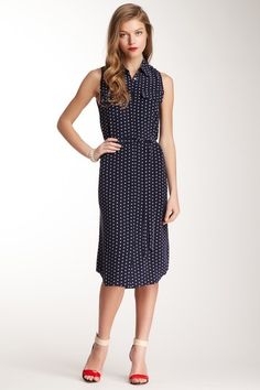 Classy, love the shoes!  Equipment Tegan Silk Dress by Labels We Love on @HauteLook