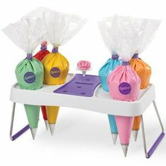 Decorating bag holder by Wilton