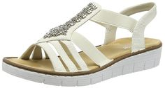 Rieker Women's Synthetik Sandals >>> Check this awesome image  : Strappy sandals