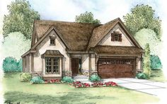 <ul><li>Lovely European detailing adorns this Cottage house plan that comes with options.</li><li>Get an extra bedroom by replacing the dining room or get an alternate master bathroom.</li><li>Add an optional hutch in either the formal dining room or informal eating area.</li><li>The main living area has the highly popular open layout that today's families enjoy so much.</li><li>The great room has a 10' high ceiling and a corner fireplace that can be seen from the kitchen and eating…