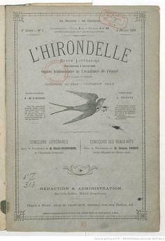 L'Hirondelle. Revue littéraire pédagogique et artistique... | 1886-01-02 | Gallica
