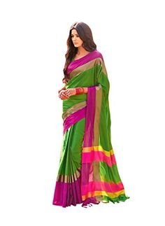Material: Cotton Fabric Length: 6.3 meters (including unstitched blouse piece which your tailor can cut from the running length of saree) COD buyers can open, see and return the product before paying