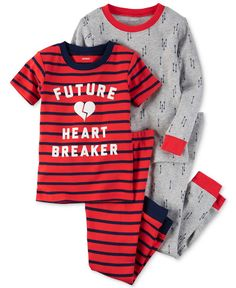 New//NWT~CARTERS~Red+White Sleeper-Romper~Baby Boys HEART-BREAKER NB 3 6 9 months