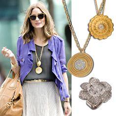 #OliviaPalermo en #Sortija Gardenia,  #Collar Alegrias & #Collar Afrodita #CarrerayCarrera #joyas #Jewelry #Moda #Fashion #Diamonds #Diamantes  #Ring #Necklace #MHPArtandJoy
