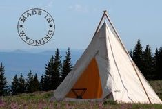 Range teepee from Sheridan Tent and Awning in Sheridan Wyoming. This is what I want to camp in, not a nylon tent.