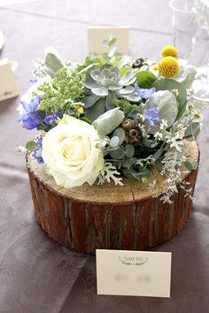 結婚式の会場装花~ナチュラル ぷっくり多肉~ |しあわせはこび隊 ポポの活動日記