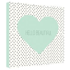 Hello Beautiful Heart Canvas Print