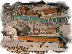 Circa nel 200 a.C., con l'arrivo dei Romani, venne costruita la Stoà, che univa il teatro di Dionisio all'Odeion.