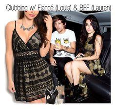 """Clubbing w/ Fiancé (Louis) & BFF (Lauren)"" by fangirl-1d ❤ liked on Polyvore featuring Kate Spade, Giuseppe Zanotti, Laura Mercier and Allurez"