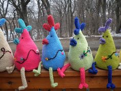 Crochet Colorful Amigurumi Chicken by Jamlex on Etsy