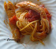 Spaghetti con cicale di mare <3