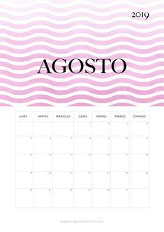 Calendario De Agosto 2019 Decorado.Las 55 Mejores Imagenes De Calendario Para Imprimir 2019