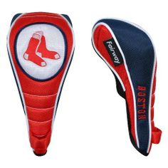 MLB Boston Red Sox Fairway Headcover by McArthur. $19.99. Embroidered with 3 of your team's trademarks. Officially licensed by MLB. Constructed of durable 420D nylon in vibrant team colors. Headcover Matching System® consists of Driver, Fairway, and Utility headcovers. Specifically tailored to fit your clubs, the corresponding woven tag clearly identifies your fairway club. Patented Shaft Gripper™ technology easily releases to allow quick single-handed removal from y...