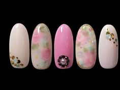 Nail art soak off gel - floral rose 玫瑰花 日系 - YouTube