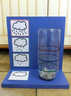 Miss Laura: design and painting picture case + weather case. Weather Activities, Spring Activities, Fun Activities, Diy For Kids, Crafts For Kids, Weather And Climate, Water Cycle, Ways Of Learning, Preschool Themes