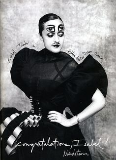 Isabel Toledo wearing Isabel Toledo w/ typography by Ruben Toledo.