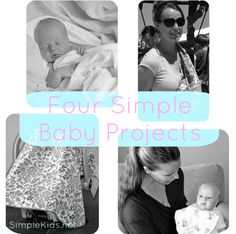 4 simple DIY baby projects; gauze blankets, baby sling, infant seat cover, nursing shawl