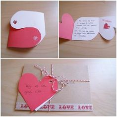 See related links to what you are looking for. Love Gifts, Diy Gifts, Diy And Crafts, Paper Crafts, Relationship Gifts, Handmade Birthday Cards, Creative Gifts, Diy Cards, Little Gifts