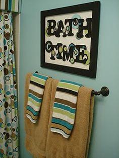 wall art for p's bathroom