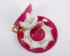 Vintage Footed Iridescent Teacup