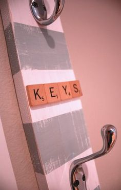 cute diy key holder. would definitely use different colors though