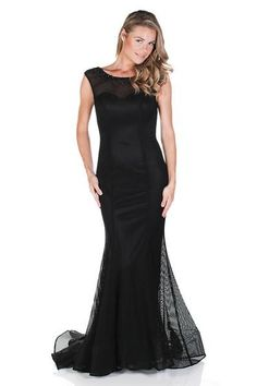 Totally digging the new and improved mermaid silhouette of the Clarisse 6528 Raven Mermaid Gown. The perfect black tie gown, black prom dress or masquerade ball gown!