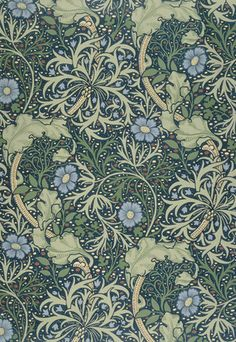 SEAWEED #wallpaper design by William Morris, 19th century | Shop now on surfaceview.co.uk