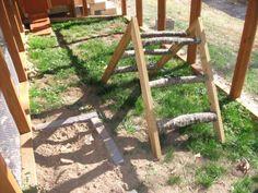 DIY Chicken Ladder Perch - PetDIYs.com