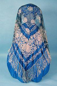 Handmade Lace Shawl, 1860s