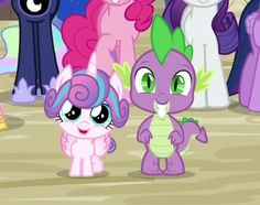 #1298384 - cropped, cute, flurrybetes, pinkie pie, princess cadance, princess celestia's hair, princess flurry heart, princess luna, princess twilight, rarity, safe, screencap, smiling, spikabetes, spike, spoiler:s06e25, spoiler:s06e26, to where and back again, twilight sparkle - Derpibooru - My Little Pony: Friendship is Magic Imageboard